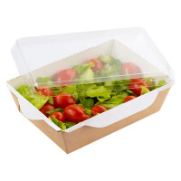 Бумажная упаковка для салатов, полуфабрикатов и соусов